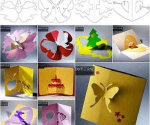 diy, crafts, and greeting card image