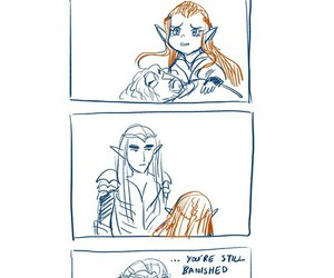 the hobbit, thranduil, and tauriel image