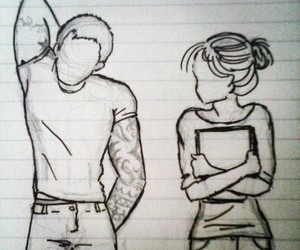 love, boy, and drawing image