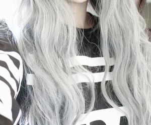 hair, grunge, and lips image