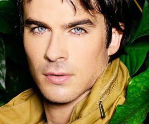 ian somerhalder, blue eyes, and damon salvatore image