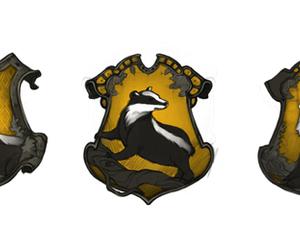 badger, crest, and harry potter image