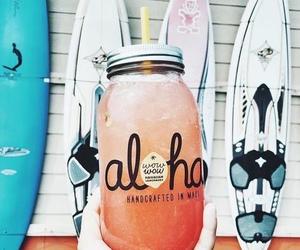 summer, Aloha, and drink image