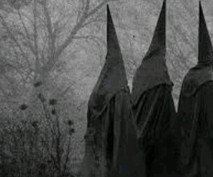 coven, black and white, and ahs image