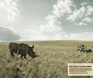 nature, WWF, and rhino image