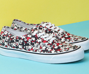 mickeymouse, shoes, and vans image