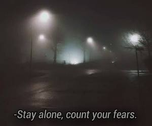 black, dark, and fears image
