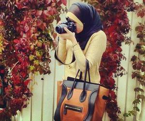 garden, photography, and hijab image