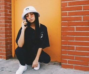 fashion, glass, and bucket hat image