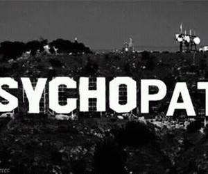 psychopath, black and white, and hollywood image