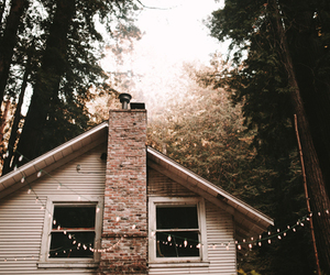 house, light, and nature image