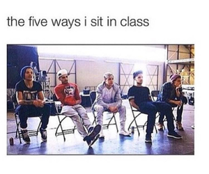 one direction, funny, and school image