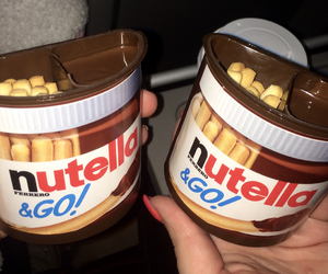 bread, food, and nutella image