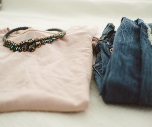 clothes, jeans, and girly image