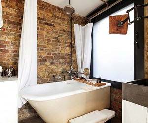 fake exposed brick wall, diy exposed brick wall, and exposed brick wall panels image