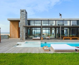 lake house design, glass house architecture, and glass door design image