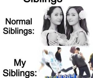 kpop, siblings, and funny image