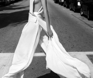 black and white, model, and street style image