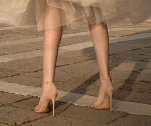 dress, beige, and legs image
