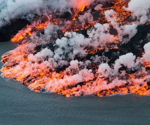 fire, lava, and nature image