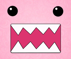 pink, wallpaper, and domo image