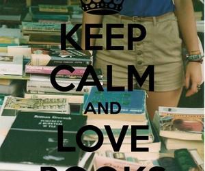 book, keep calm, and love image