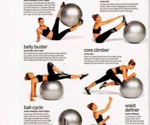 workout, ball, and fitness image