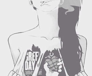 girl and green day image
