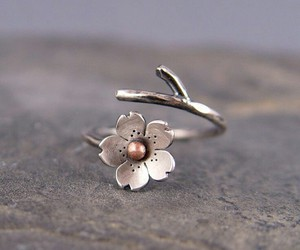 ring, jewelry, and flowers image
