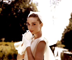 audrey hepburn, white, and wedding image