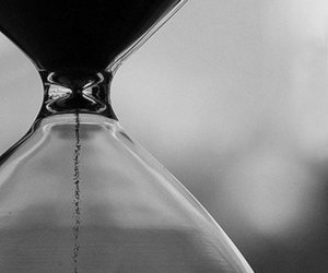 time, black and white, and hourglass image