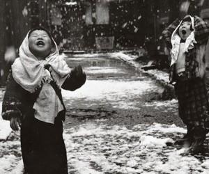 children and snow image