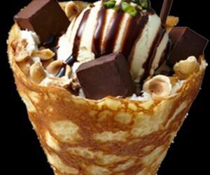 chocolate, ice cream, and sweet image