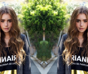 double, twin, and lily collins image
