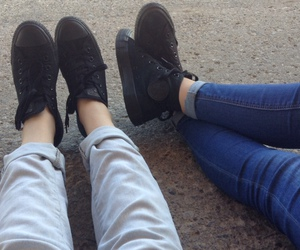 grunge, converse, and shoes image