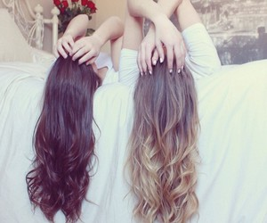 best friends, hair, and bffs image