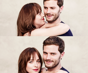 Jamie Dornan, fifty shades of grey, and dakota johnson image