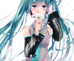 hatsune miku, vocaloid, and pleated skirt image