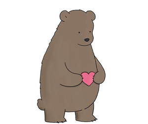 love, bear, and animal image