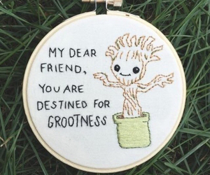 cute, quote, and groot image