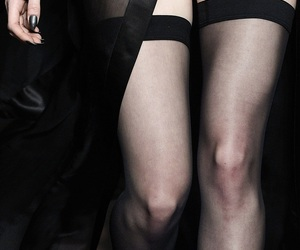 black stockings, classy, and lux image