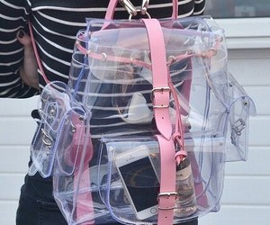pink, grunge, and backpack image