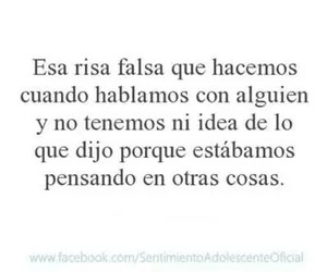 Risa, frases, and laugh image