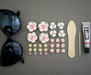 craft, diy, and flowers image