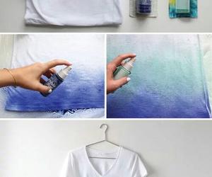 diy, blue, and t-shirt image