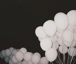 balloons, grunge, and white image