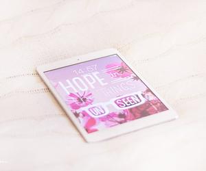 ipad, pink, and hope image