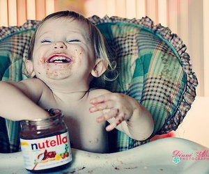 baby, nutella, and cute image