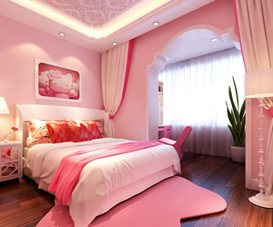 amazing, pink, and bedroom image