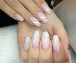 manicure, nails, and ombre image